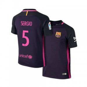 best sneakers 9b2ca 8cb20 16-17 Cheap Barcelona Away #5 Sergio Replica Shirt [H00431 ...