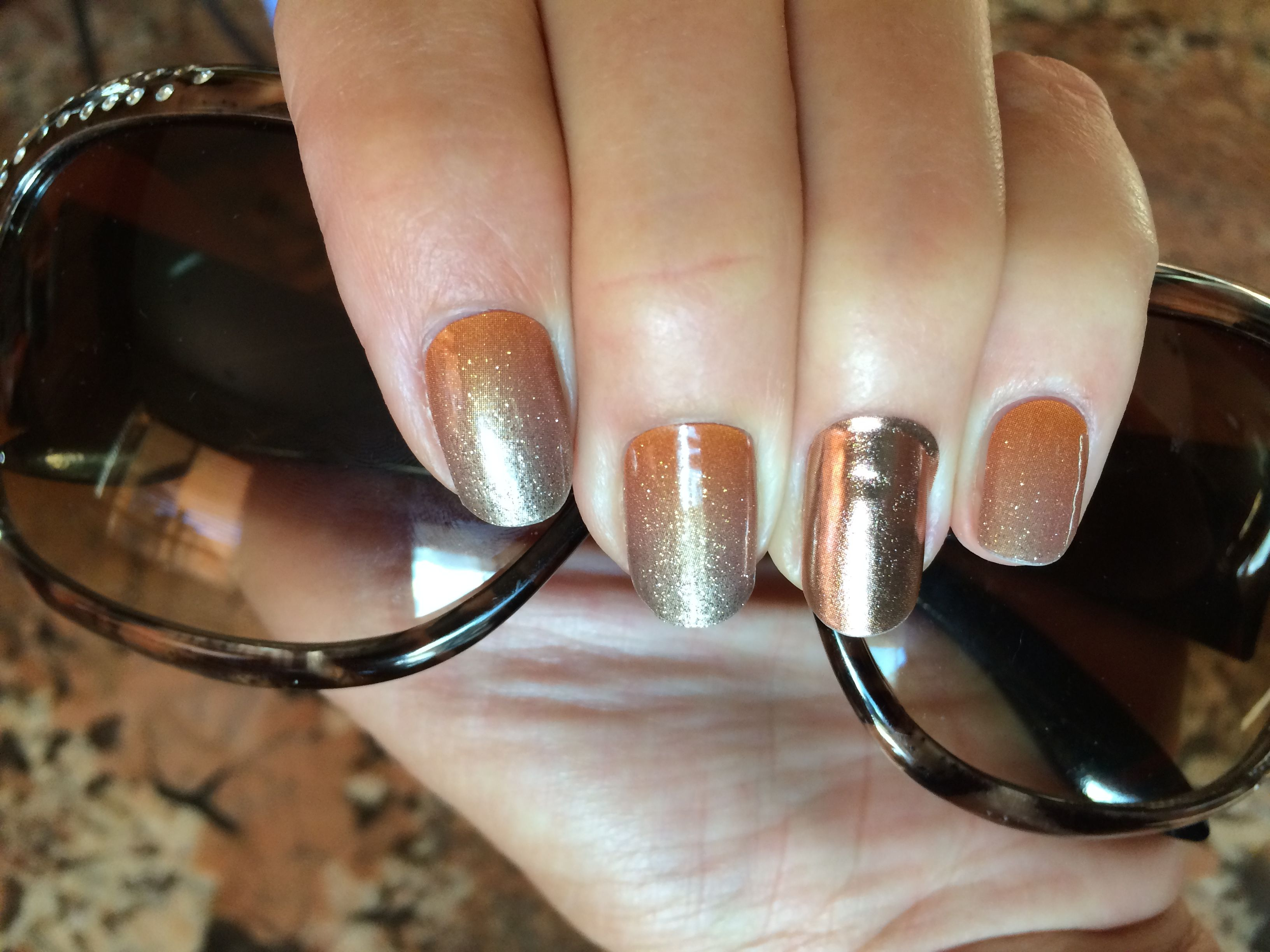 Pumpkin Spice Jams with Rose Gold accent | My personal Jamicures ...