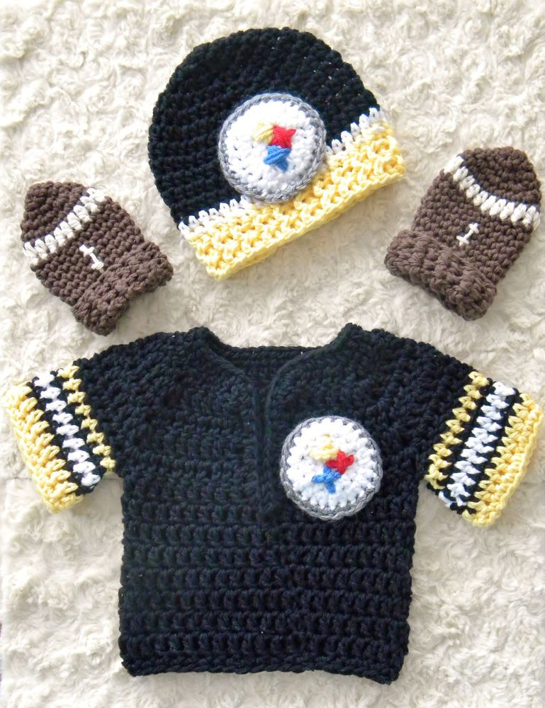New Baby Crochet Pittsburgh Steelers Team Jersey ef3246c3f