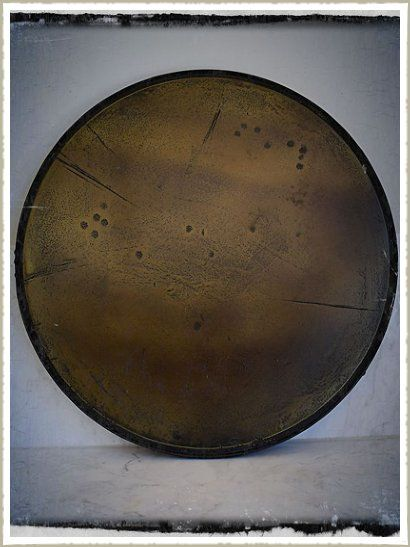 Our Unique Aged Brass Table Tops For Cafes And