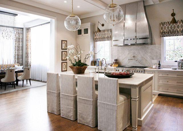 Warm white kitchen design gray butler s pantry home for Warm kitchen designs