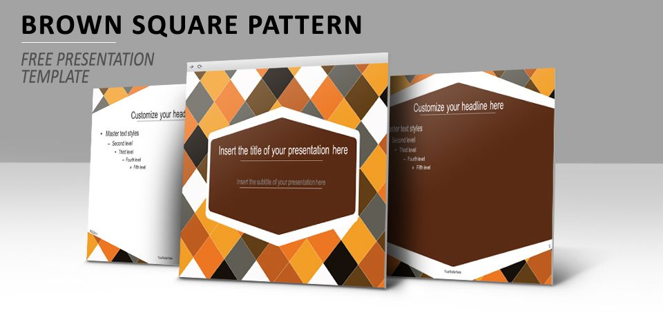 Brown Squared Pattern – Free Template for PowerPoint and Impress ...