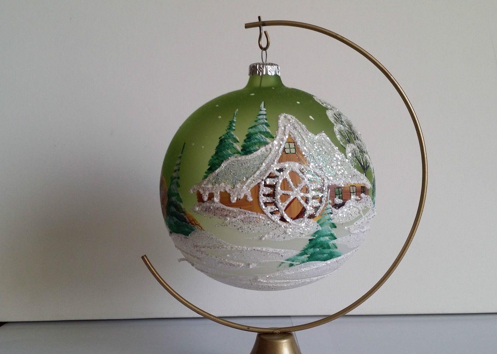 Boule de Noël en verre peinte à la main (Pologne) | Boules de noël