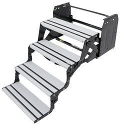alumi tread manual pull out step for rvs 8 drop rise 24 wide quad aluminum truck. Black Bedroom Furniture Sets. Home Design Ideas