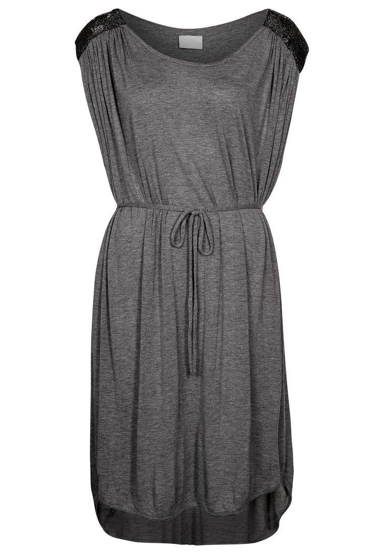 Vila - PAULAN - Jerseykjoler - grå