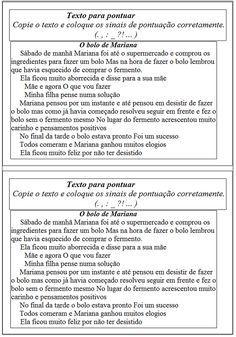 Pequenos Textos Para Pontuar Textos Atividades De Pontuacao