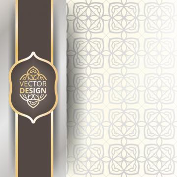 2020 的 Vintage Greeting Card On A White Background Islamic