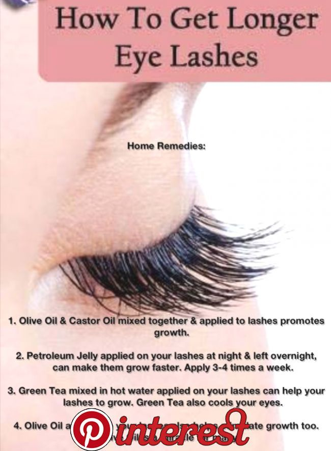 10 Ways to Get Longer Eyelashes Every girl wants to have ...