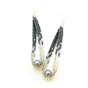 Cool beaded earrings. will try to make