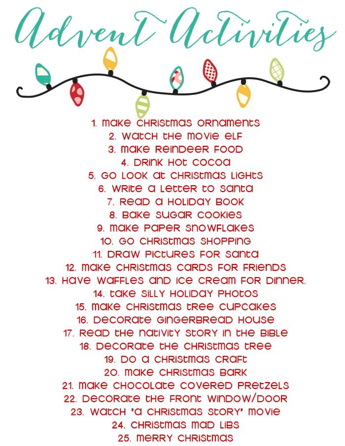 Lenten Calendar Ideas : Burlap ribbon advent calendar activities list
