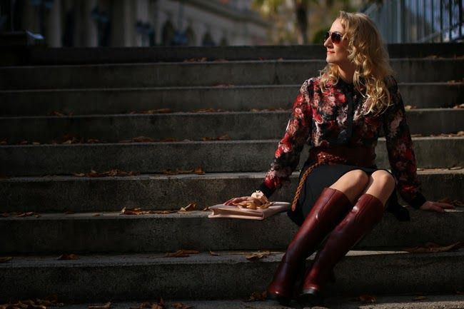 Reddish brown floral look ... #fashion #inspiration #trend #fall #winter #summer #spring #pantone #frühjahr #sommer #herbst #style #outfit #ootd #filizity