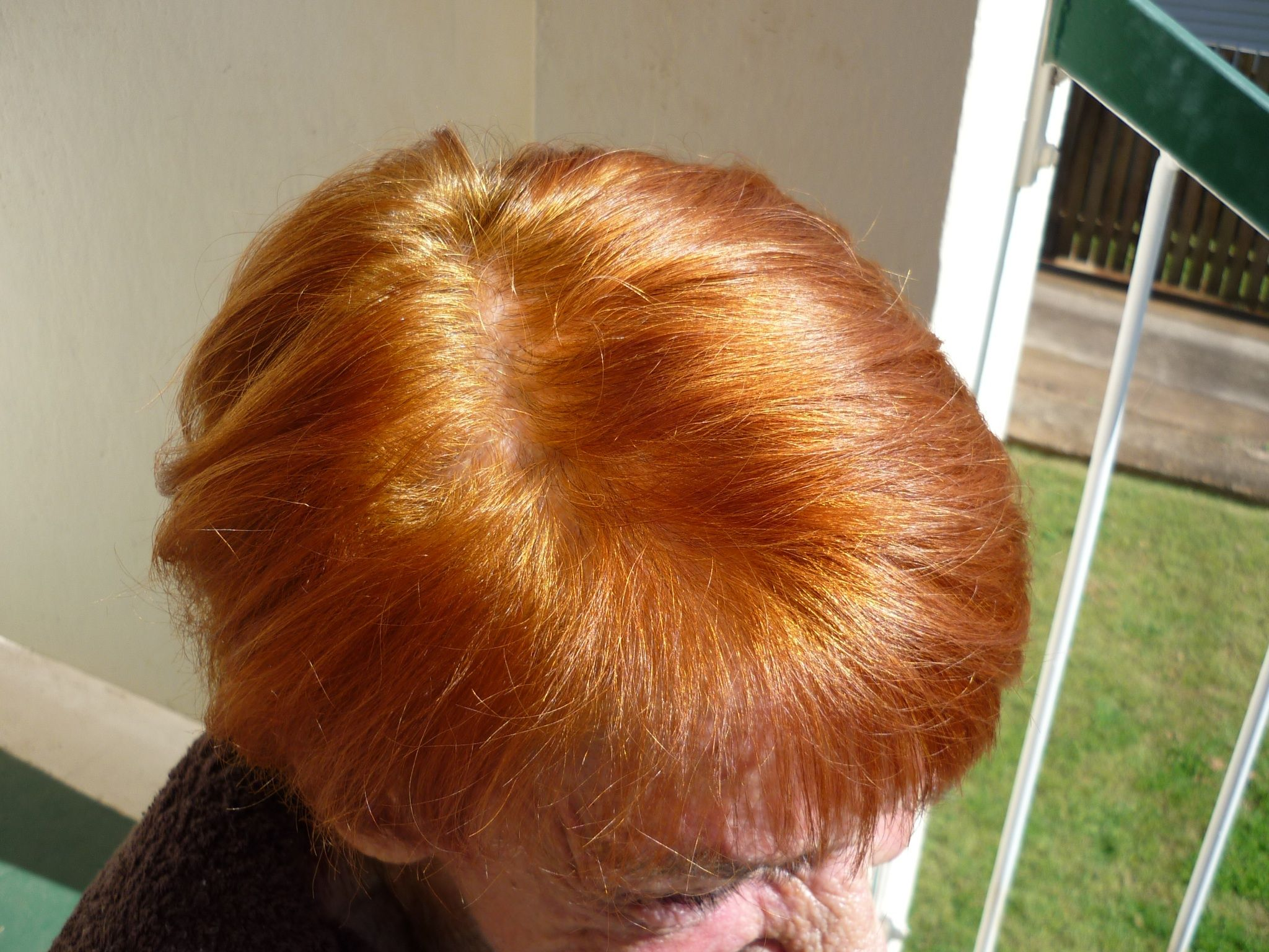 Chestnut Brown Dark Red On 100 White Hair Organic Nazeer Henna