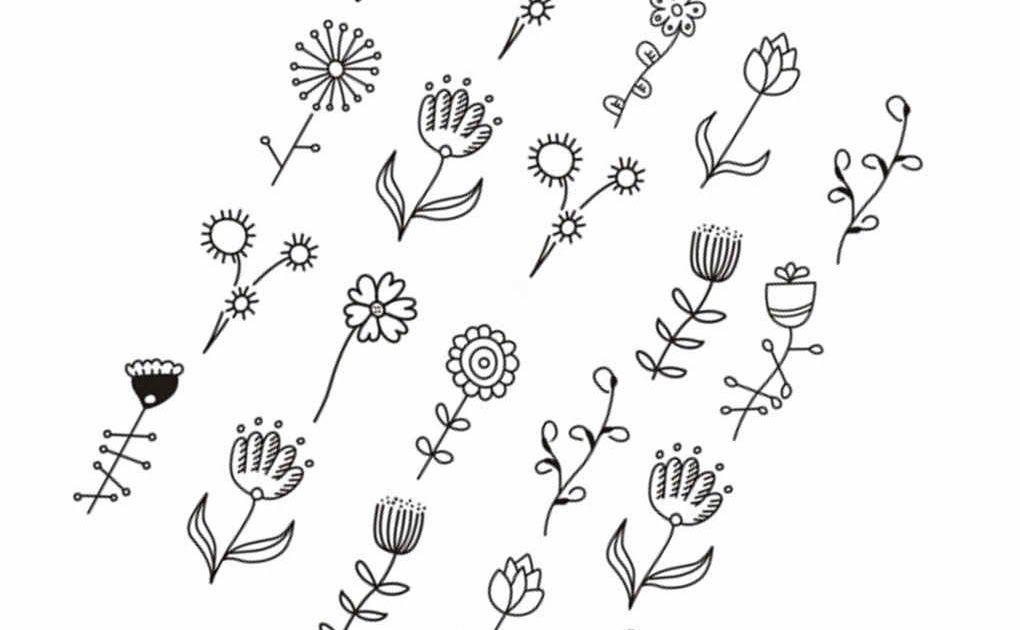 Terbaru 14 Gambar Sketsa Bunga Dan Hewan Di 2020 Bunga Sketsa