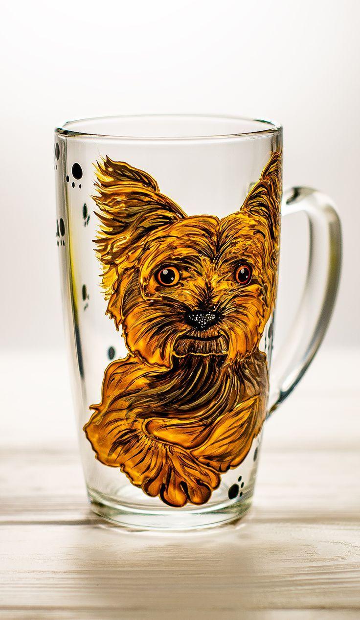 Yorkie Gift Personalized Dog Mug, Yorkie Dog Mom Mug