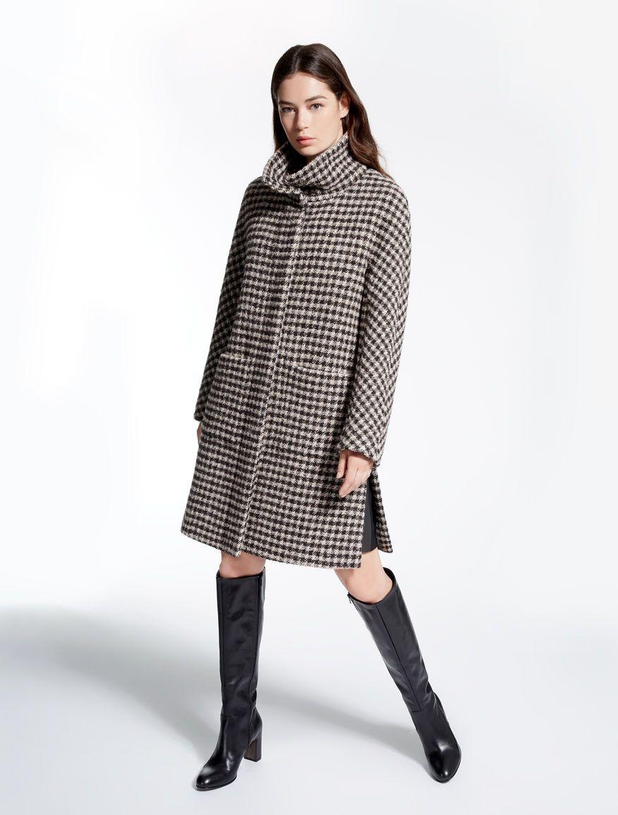 Bouclé wool coat fbc202007e7