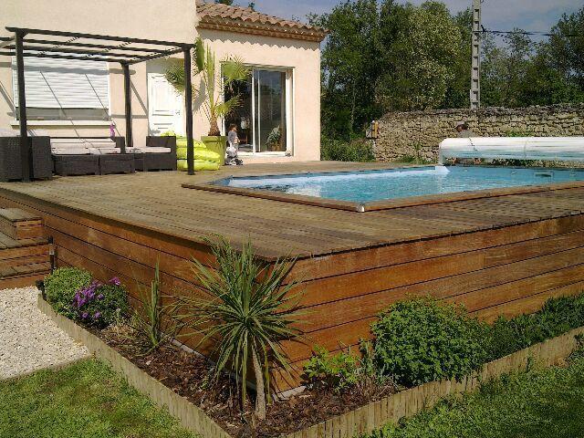 Faire une terrasse en bois pas cher amenagement piscine - Fabriquer une piscine en bois ...
