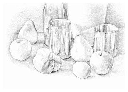 Still Life Techniques Pencil Drawing Pencil Drawings Still Life Drawing Drawings