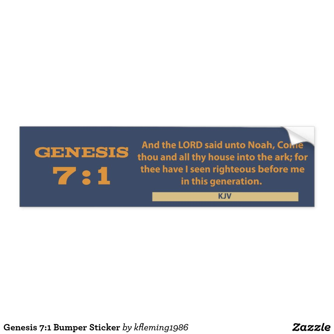 Genesis 7 1 Bumper Sticker Bumper Stickers Bumpers Strong Adhesive [ 1104 x 1104 Pixel ]