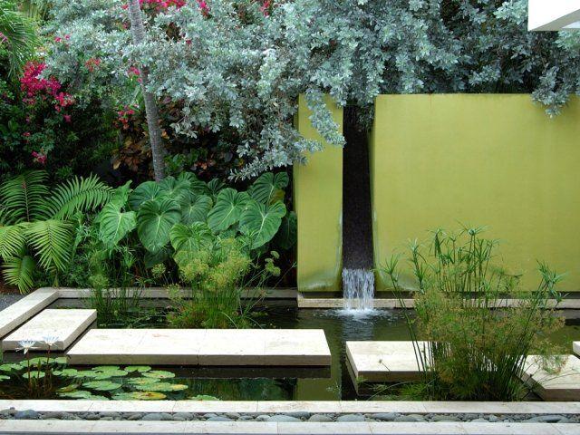 asiatischer garten inspirationen-moderne gehwege mit betonplatten, Gartenarbeit ideen