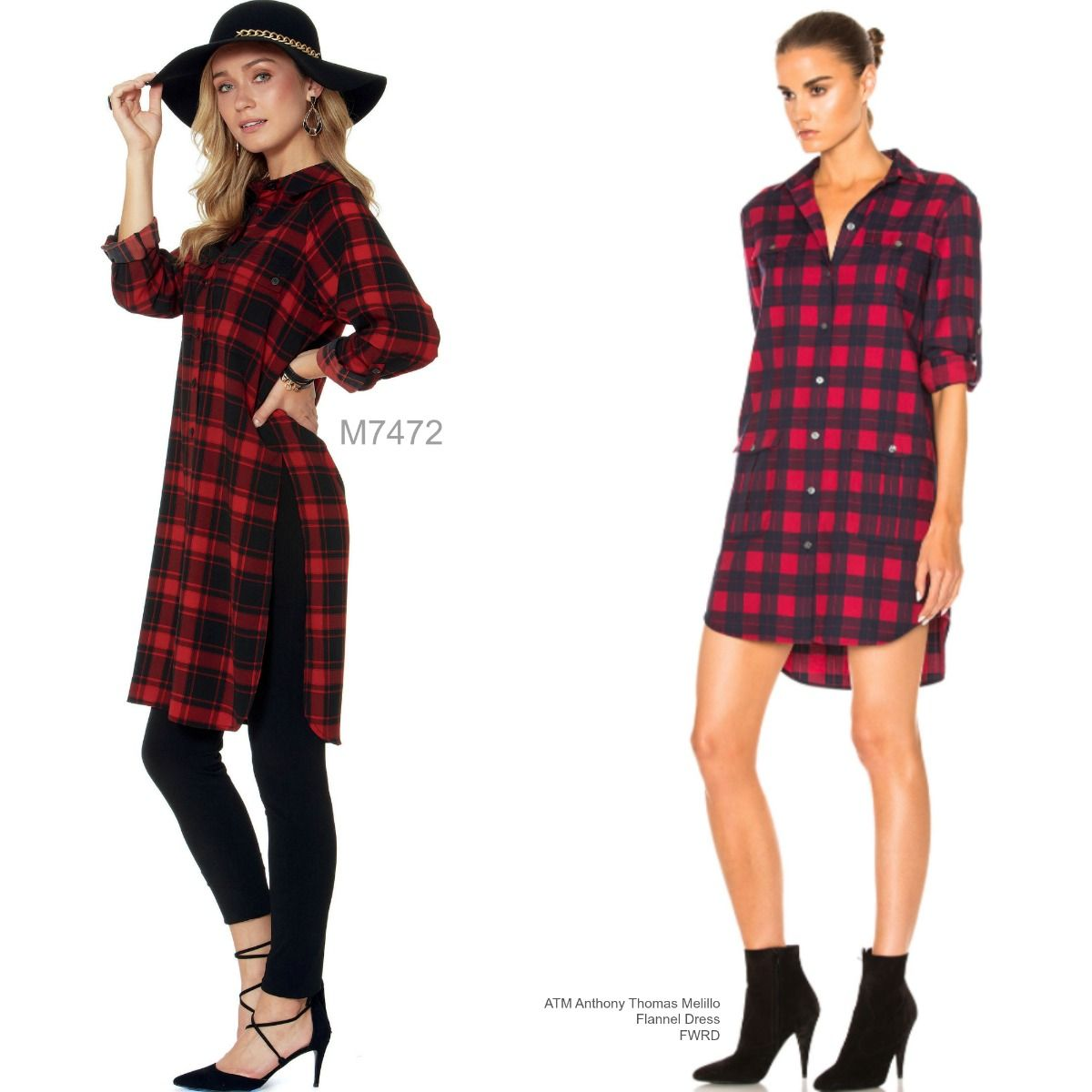 Sew the Look: McCall\'s M7472 flannel tunic dress | costura ...