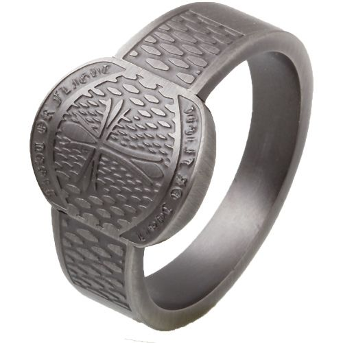 14116eae325 Herrering i sort stål og power design | Jewlery for men | Mørkt hår ...
