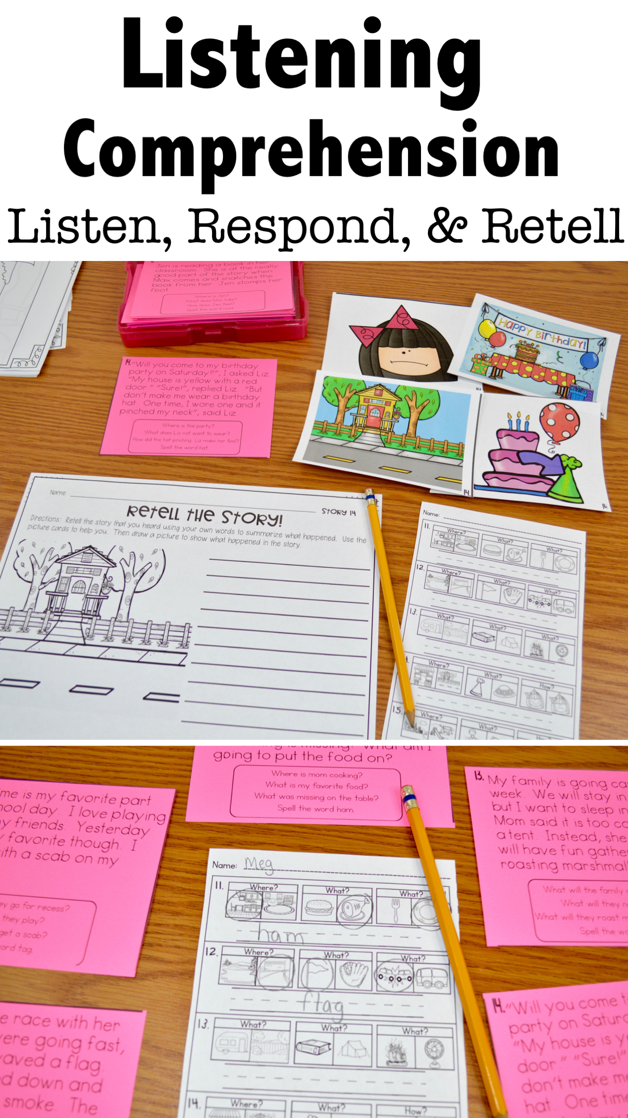 Listening Comprehension Activities For Elementary Students
