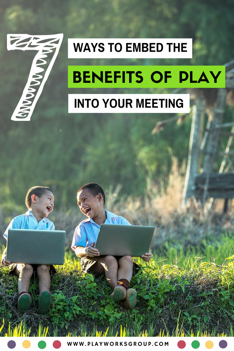 7 Ways to Embed The Benefits of Play into Your Meeting | In terms of health, productivity, creativity, and cooperation, play is hard to beat. Since meetings and conferences are an extension of the workplace environment, the dynamics hold true. | Playworks Group | Team Building