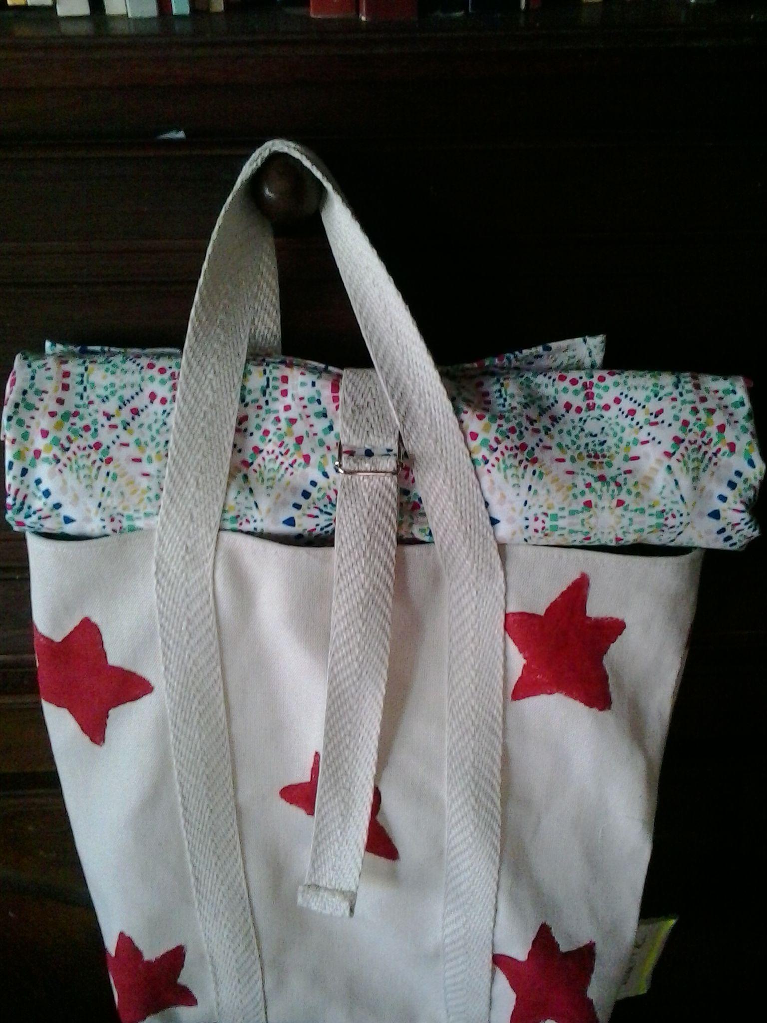 bolsa de playa con lona
