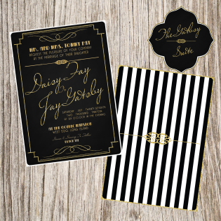 the great gatsby invitation roaring 20 s great gatsby art deco