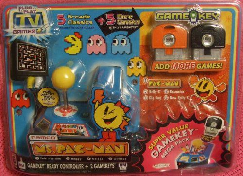 Namco Ms. Pac-Man Plug & Play Super Value Gamekey Mega Pack @ niftywarehouse.com #NiftyWarehouse #PacMan #VideoGames #Pac-man #Arcade #Classic