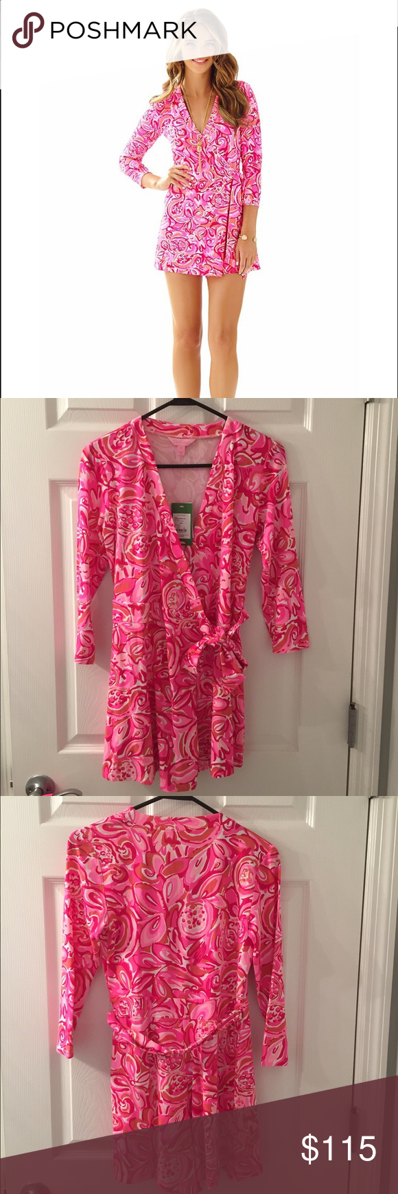 107abc47027 NWT Karlie wrap romper mango salsa XS New with tags. Perfect condition.  Lilly Pulitzer Other