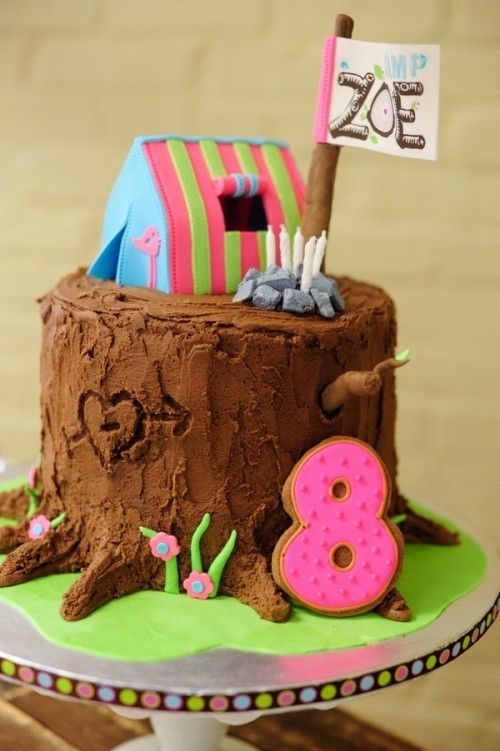 Prime Cake For Camping Birthday Party Ruth H Camping Cakes Glamping Funny Birthday Cards Online Bapapcheapnameinfo