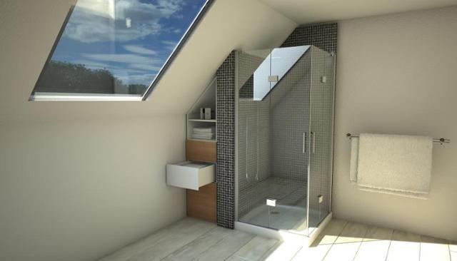 Dachschragen Platz Optimal Ausnutzen So Geht S Dachschrage Schmaler Badezimmerschrank Badezimmerideen