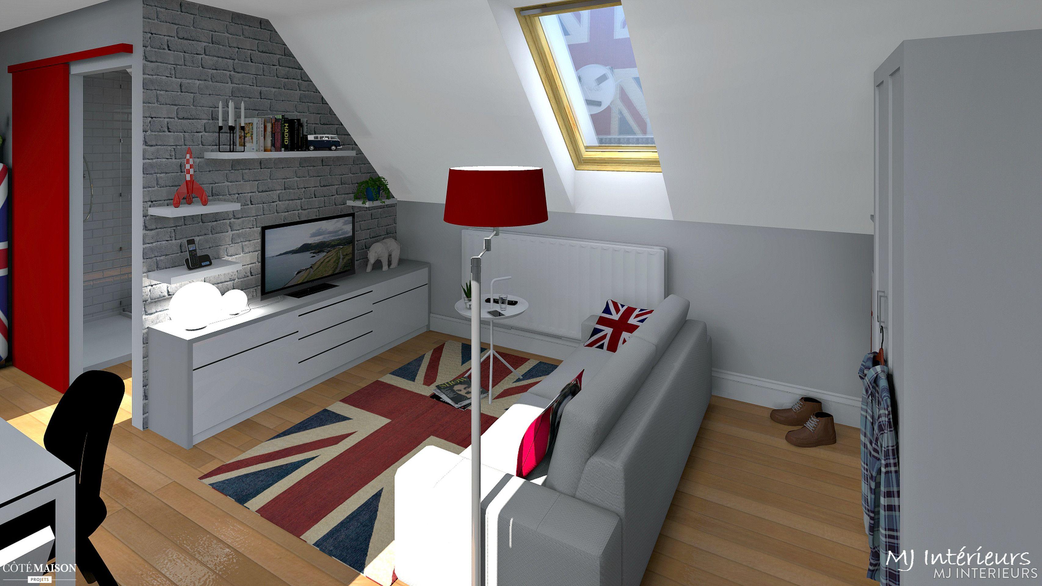 Comment caser dans moins de 25 m² au sol en sous pentes un salon