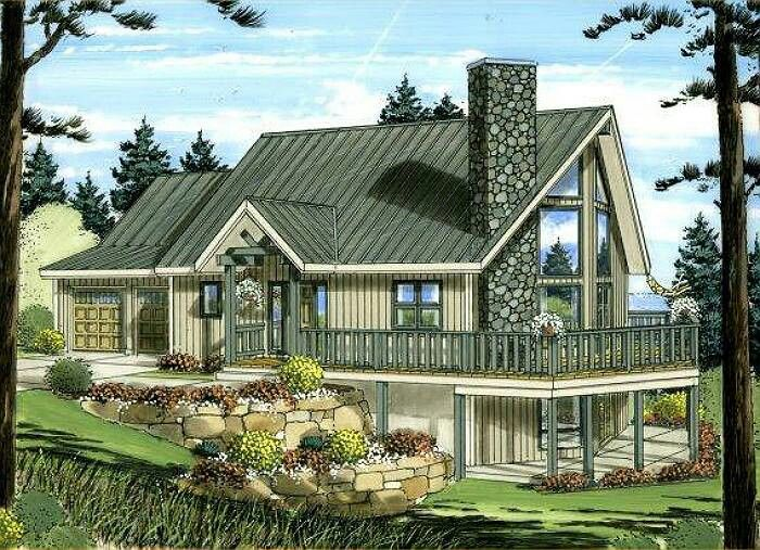 Love this yard Cabins Pinterest – A Frame House Plans With Attached Garage