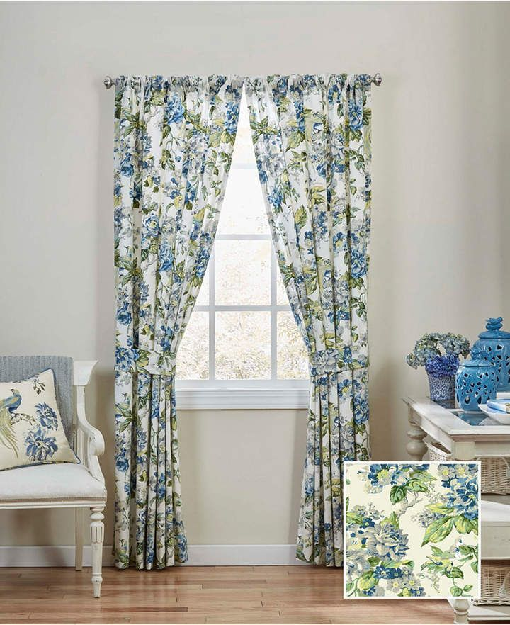 Waverly Ellery Homestyles Floral Engagement Floral Window Drapery
