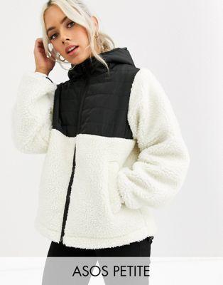 ASOS DESIGN Petite fleece jacket with contrast animal in