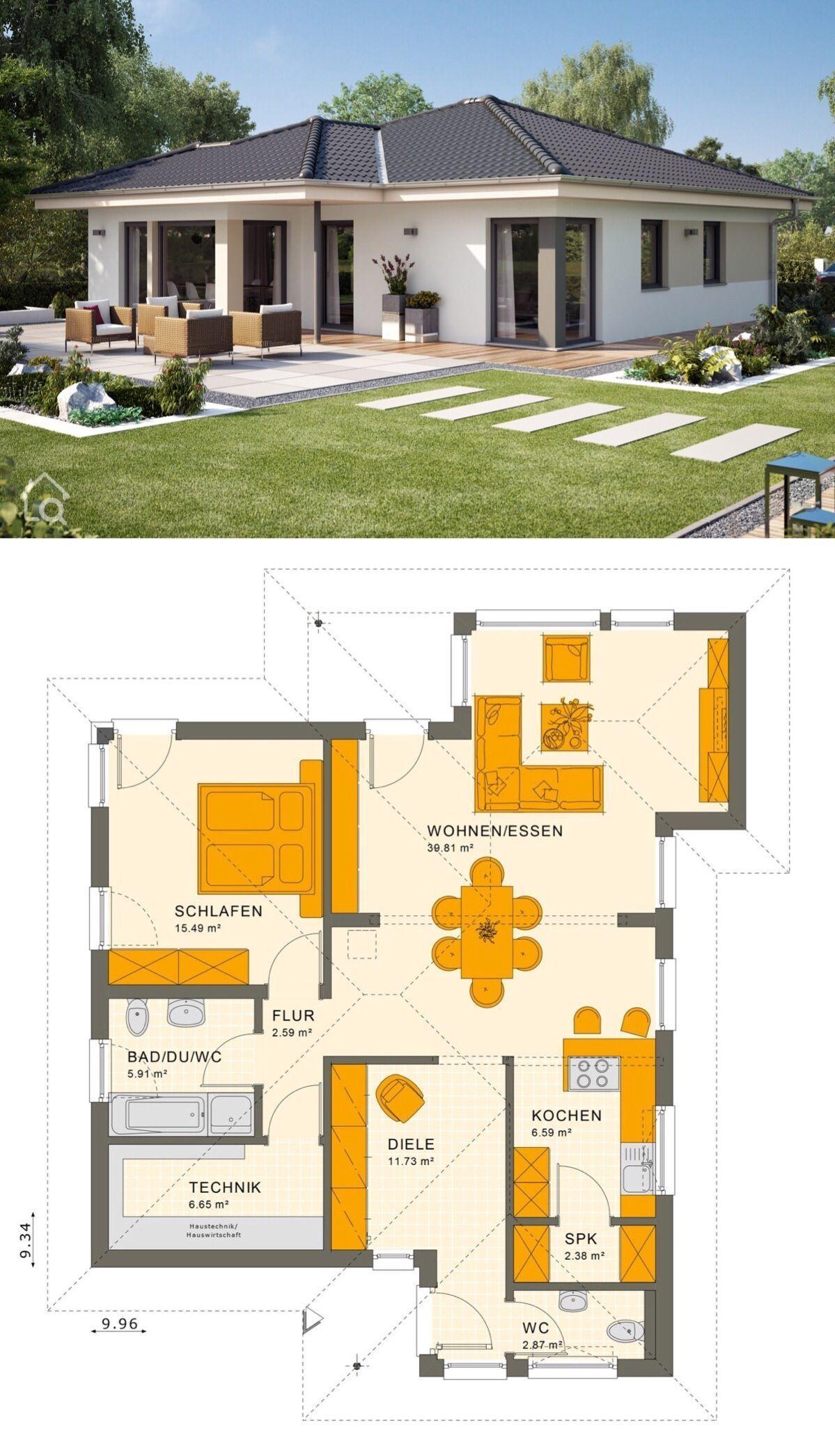 Winkelbungalow Solution 78 V8 Mit Walmdach Living Haus Hausbaudirekt B Plans Petite Maison Moderne Maison Architecte Moderne Construction Maison Moderne