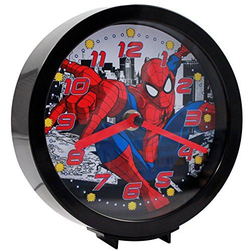 Marvel Officially Licensed SpiderMan DualFunction Analog Clock ** Check out the image by visiting the link.Note:It is affiliate link to Amazon.