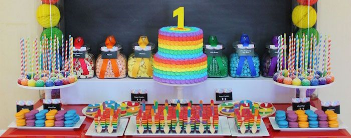 Rainbow Themed First Birthday Party Planning Ideas Styling Decor