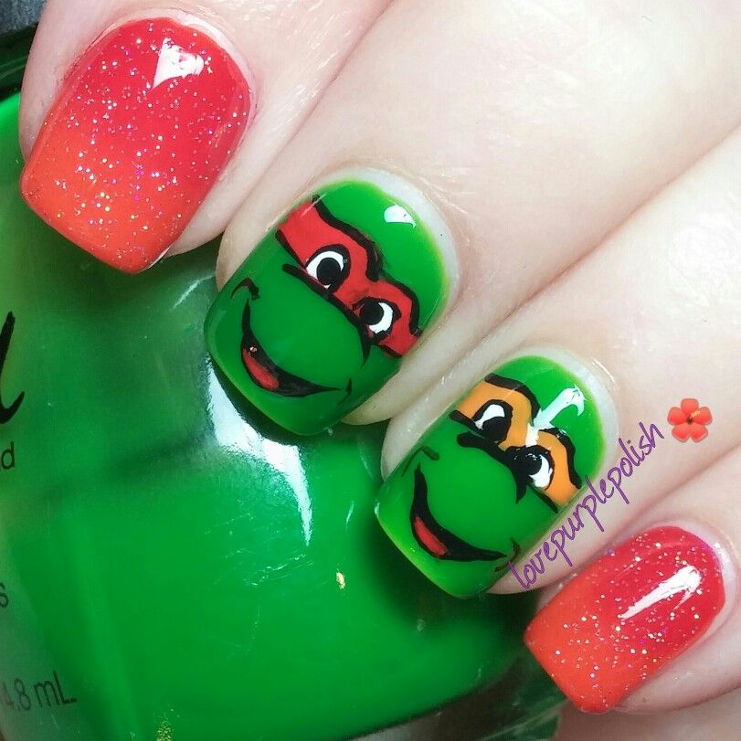 Ninja Turtles nail art! !!! IG lovepurplepolish | @lovepurplepolish ...
