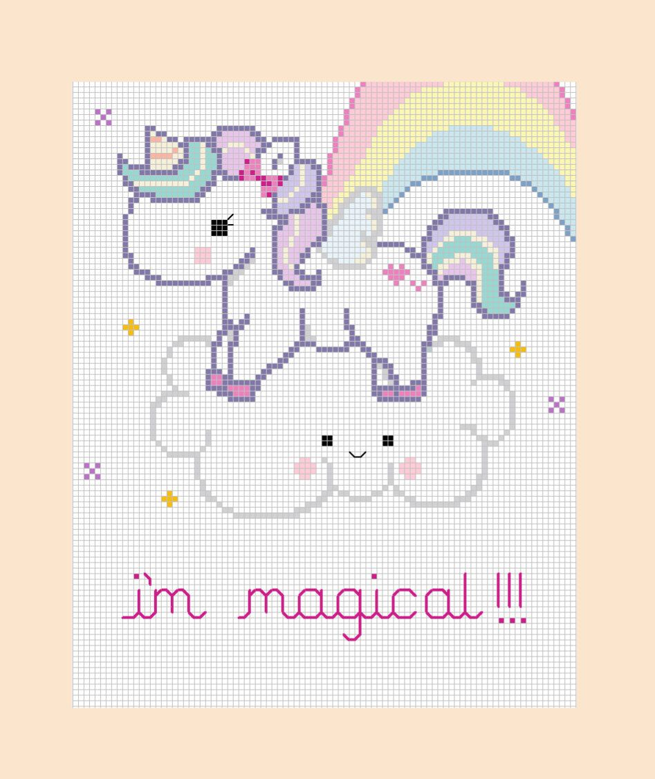 Be Magical Unicorn Cross Stitch Pattern PDF Pattern | Patrones ...