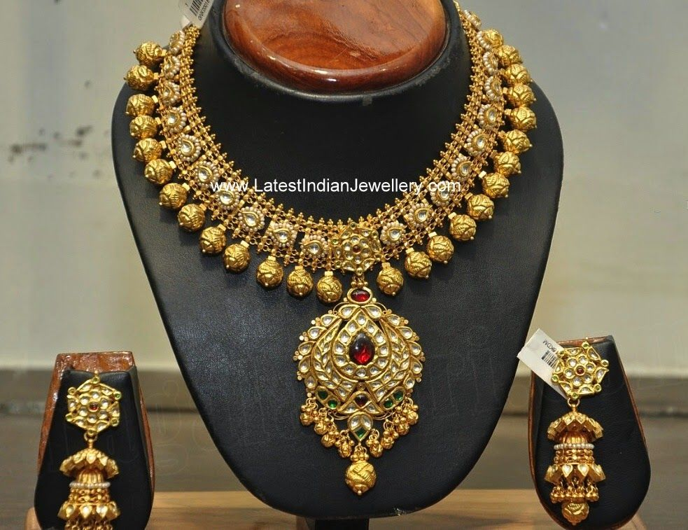 Hiya Jewellers Heavy Bridal Gold Necklace | Indian jewelry, Gold ...