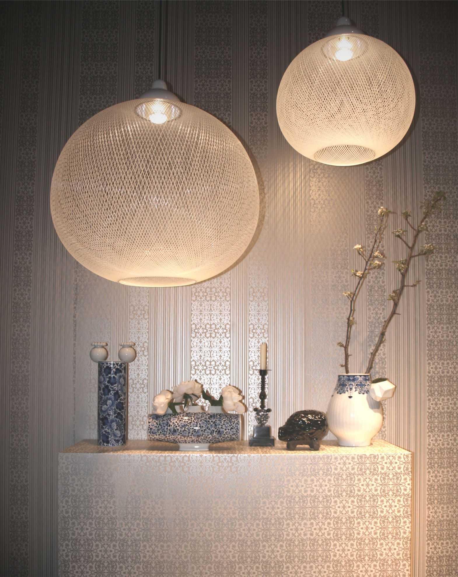Suspension Non Random Light Small ˜ 48 cm Blanc Moooi