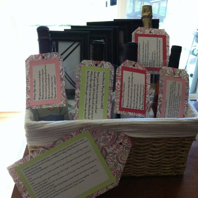 Wedding Gift Wine Basket: Wedding First Year Wine Basket!