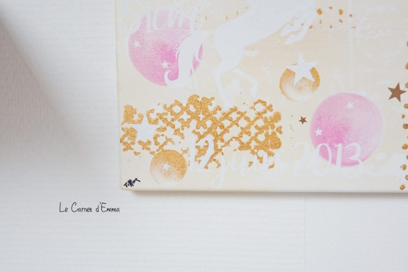 Des toiles de Naissance personnalisées - Le Carnet du0027Emma Décoration