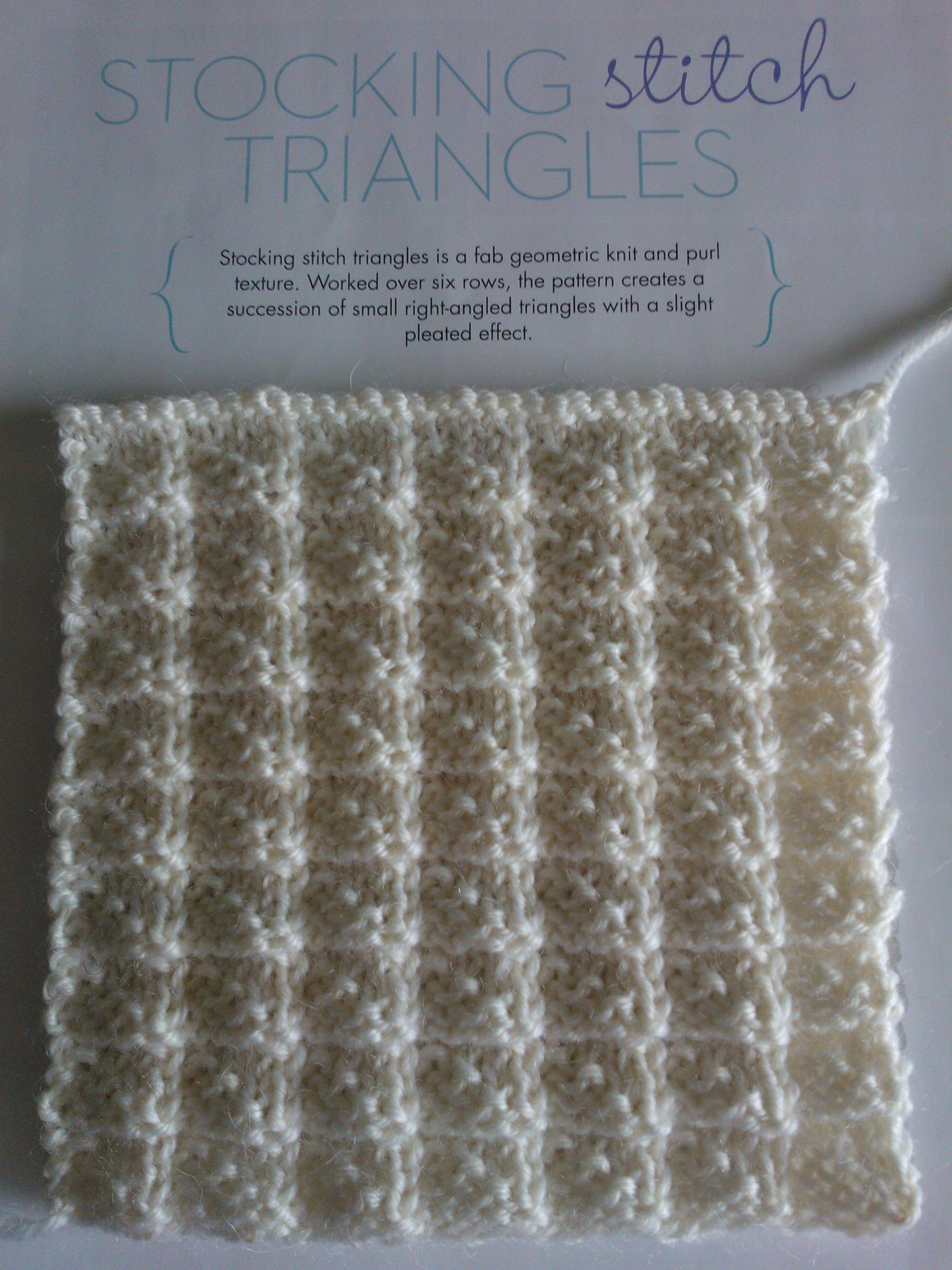 Stylish simple knitting stocking stitch