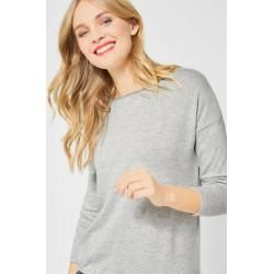 Photo of Street One – Shirt mit glitzerndem Kragen im Club Grey Melange Street OneStreet One