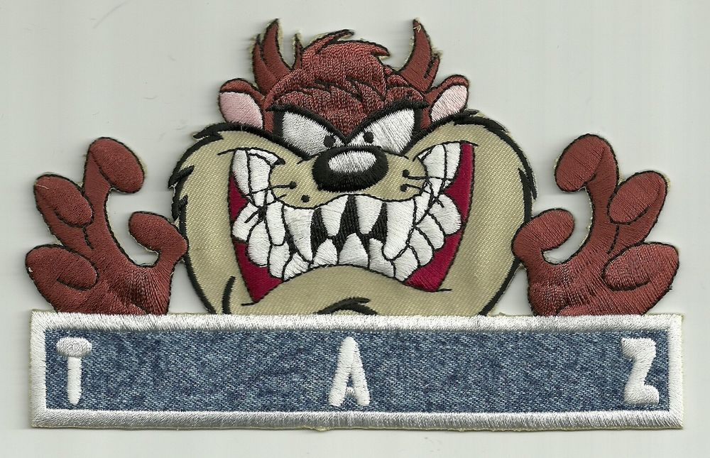 TAZMANIAN DEVIL EMBROIDERED PATCH !