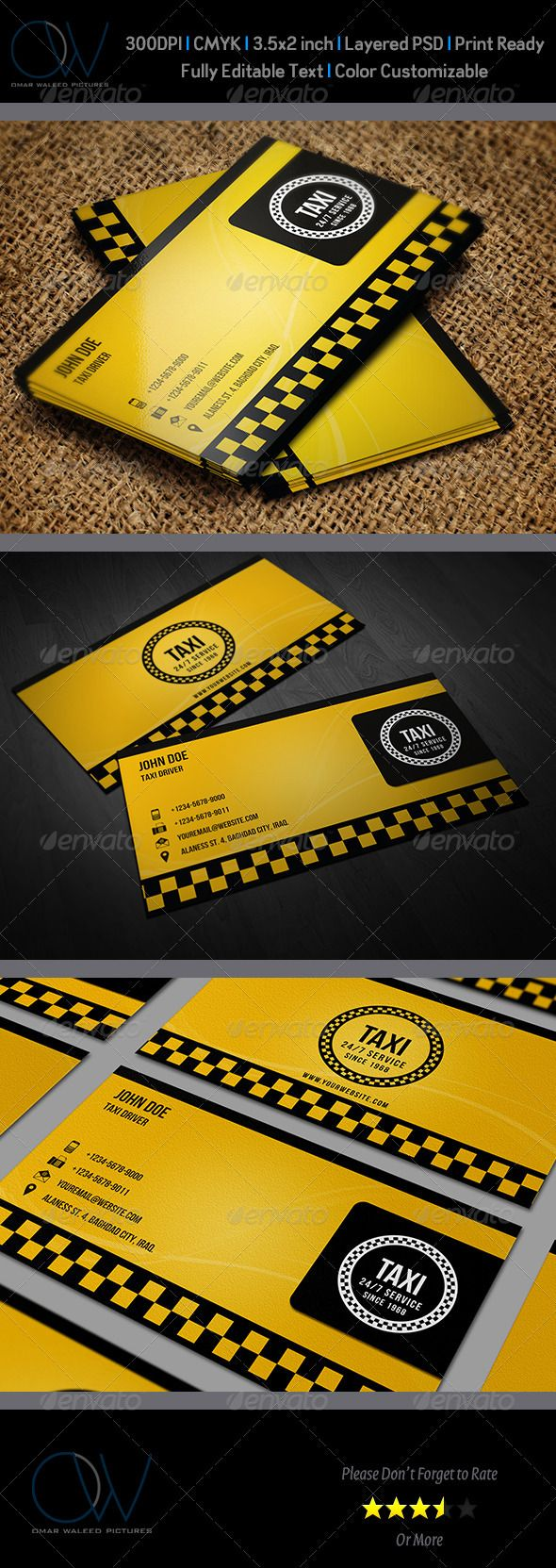 Taxi Business Card | Taxi, Business cards and Business